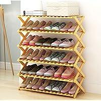 靴のラック単身木製のシンプルなマルチレイヤーシンプルでモダンな家庭用シューズラックシューボックス収納ラック棚 (色 : 6 layer, サイズ さいず : 60 cm 60 cm)