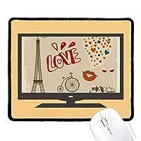 愛パリフランスエッフェル塔 マウスパッド・ノンスリップゴムパッドのゲーム事務所