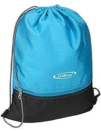 G4Free スポーツバッグ ジムバッグ ナップサック 巾着袋 運動 ショッピングバッグ 部活用バックパック 収納バッグ 男女兼用