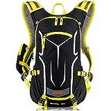Lihaer Bike Backpack Breathable Running Lightweight Cycle Backpack Ski Rucksack with Rain Cover for Running Biking Skiing Fits Men Women