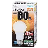 OHM LED電球 一般電球形 60形相当 口金直径26mm 電球色 [品番]06-1735 LDA7L-G AG5