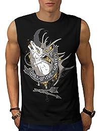 Wellcoda コール の ハンター ファッション 男性用 S-5XL 袖なしTシャツ