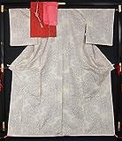 未使用品 着物4点セット 9マルキ白大島紬・八寸名古屋帯・帯揚げ〆 裄長サイズ 【中古】