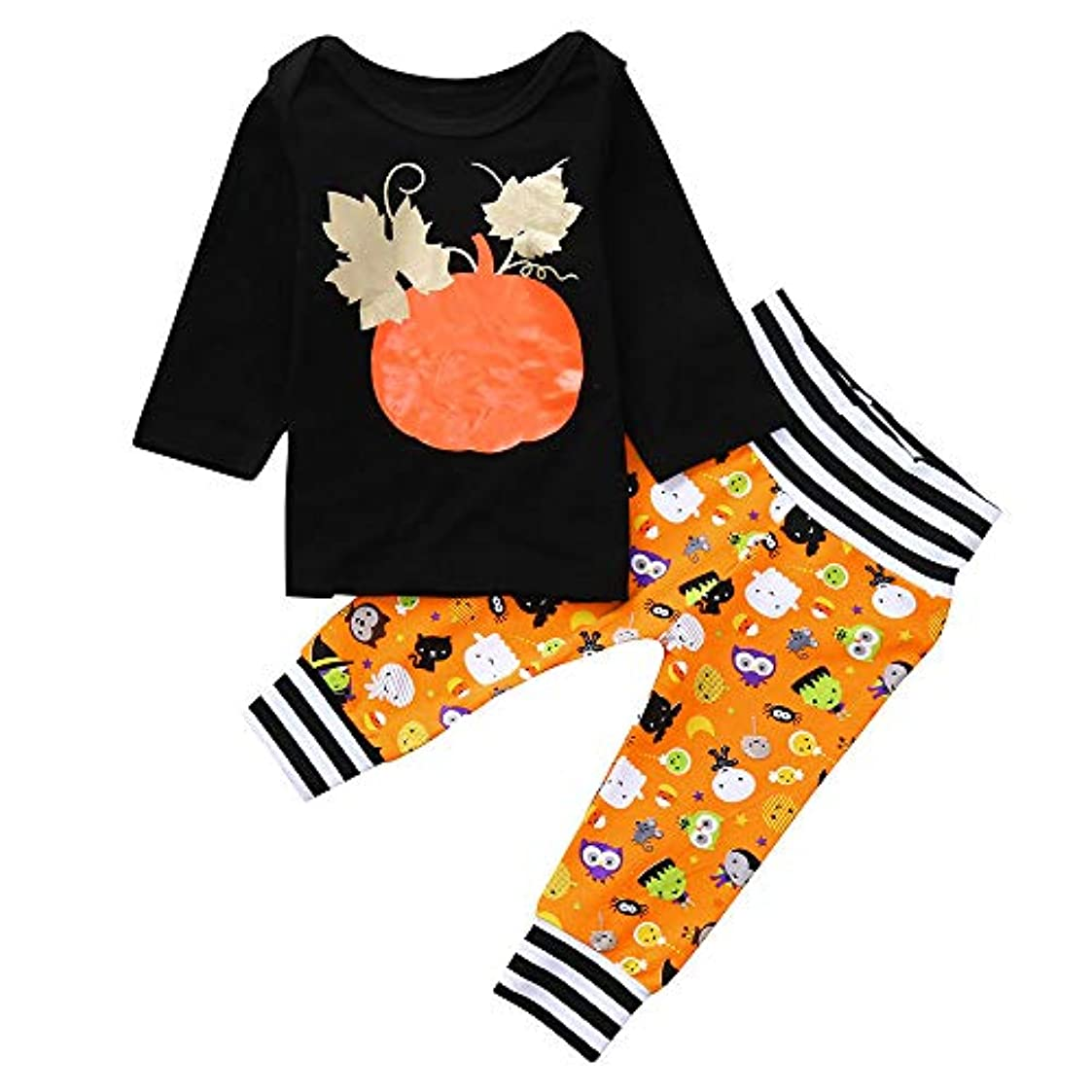そんなにけがをするリッチハロウィン 衣装 子供 Huliyun ハロウィンコスプレ かわいい キッズ 仮装 こども 子供 コスチューム 男の子 女の子 仮装 2セット長袖 Halloween コスプレ衣装 パーティー 撮影記念