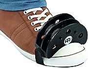 ●足に簡単に装着できるフットタンバリン