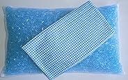 透气性好 可水洗 可随时保持清洁 PP管枕 格子 蓝色 带盖 30*50cm