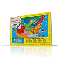 USA Map Puzzle for Toddlers 17 Pc Large Size US States with Cute Pictures on it Ideal for Boys/Girls with 3+ Years of Age Smart Learning and Development Jigsaw Puzzle Toy/Game Great Gift Idea. 【You&Me】 [並行輸入品]