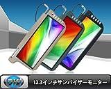 ★SHARP液晶 ★12.3インチサンバイザーモニター  左右セット★グレー★S123G