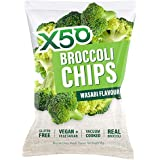 X50 Broccoli Chips Wasabi 60g NEW FLAVOUR