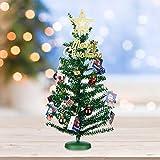 KEYNICE クリスマスツリー 45cm きらきら 卓上 20個オーナメント付き セット かわいい ミニ メセッジーカード付き 北欧風 おしゃれ インテリア用品 クリスマス プレゼント ギフト