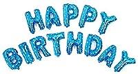 16インチHappy Birthdayバルーンマイラー箔のバルーンパーティー装飾ピンクとブルー 16 Inch Blue ブルー