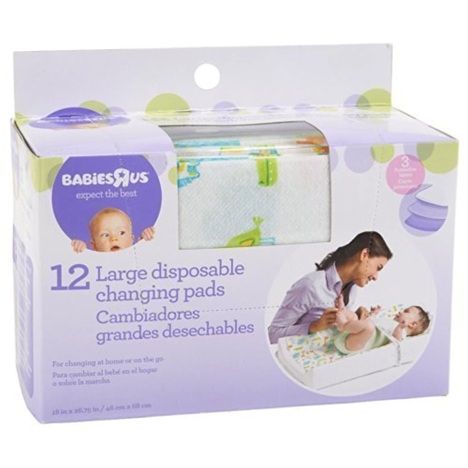 Babie R Us Large Disposable Changing Pads - 12 Pack by Babies R Us [並行輸入品]