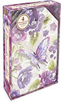 Punch Studio Purple Butterfly Boxed Sachets