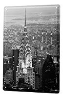 ブリキ看板 tin sign XXL Globetrotter Chrysler Building NY
