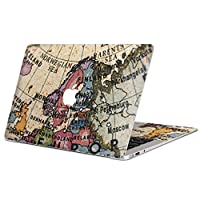 MacBook Air 13inch 専用スキンシール マックブック 13インチ Mac Book Air 2010年~2017年モデル対応 カバー ケース フィルム ステッカー アクセサリー 保護 地図 外国 国名 010243