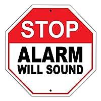 """停止、アラーム音緊急安全制限アラート注意Caution警告Noticeアルミニウムメタル12"""" x12""""サインプレート"""