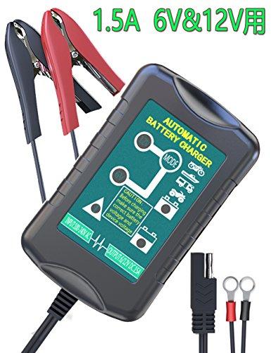 LST バッテリー充電器 バッテリーチャージャー 6Vと12...