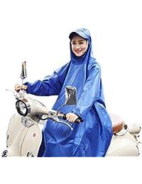 雨具 防水 女性用 通学 便利 純粋な 青 防水 乗る レインコート 女性 電気自動車 大人 ポンチョ (サイズ : XXXXL)