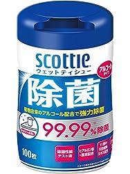 スコッティ ウェットティシュー 除菌 アルコールタイプ 本体 100枚