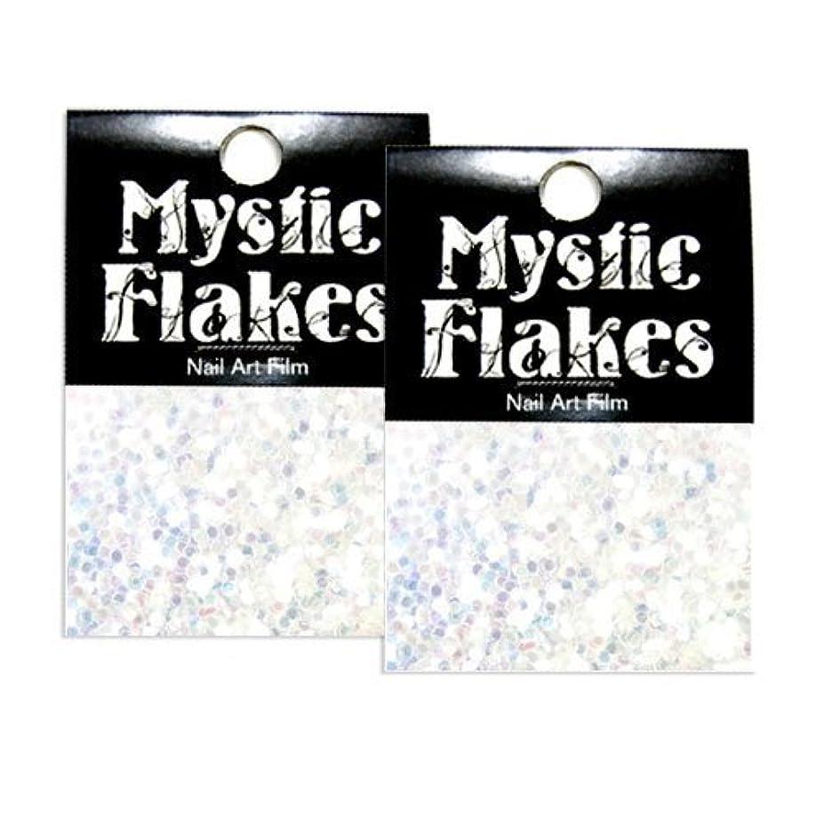 特異な乳シニスミスティックフレース ネイル用ストーン オーロラホワイト ヘキサゴン 1mm 0.5g 2個セット