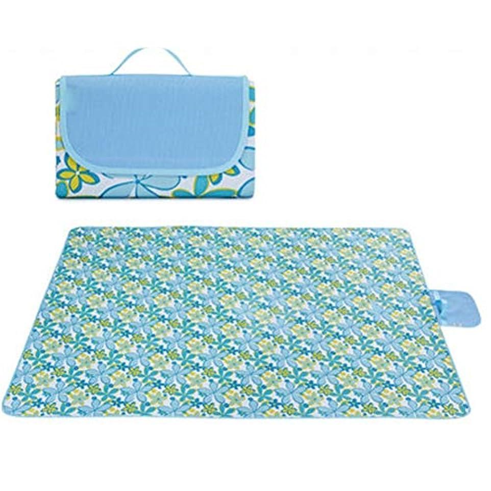 衣服センブランス逃れる防水の裏付けが付いているピクニック毛布 - 浜のキャンプのための携帯用ピクニックマットの湿気防止パッドの洗濯できる芝生のマットの厚さにされたピクニックパッド - 145X180cm / 200X200cm - 青 (Size : 200X200cm)