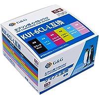 【ネット限定】 G&G インクカートリッジ <EPSON(エプソン) KUI-6CL-L互換 クマノミ 6色セット 大容量 ICチップ付残量検知対応> EKUI-6P 互換インクカートリッジ [EP-880AB/EP-880AN/EP-880AR/EP-880AW/EP-879AB/EP-879AR/EP-879AW対応]【国際規格ISO9001品質】