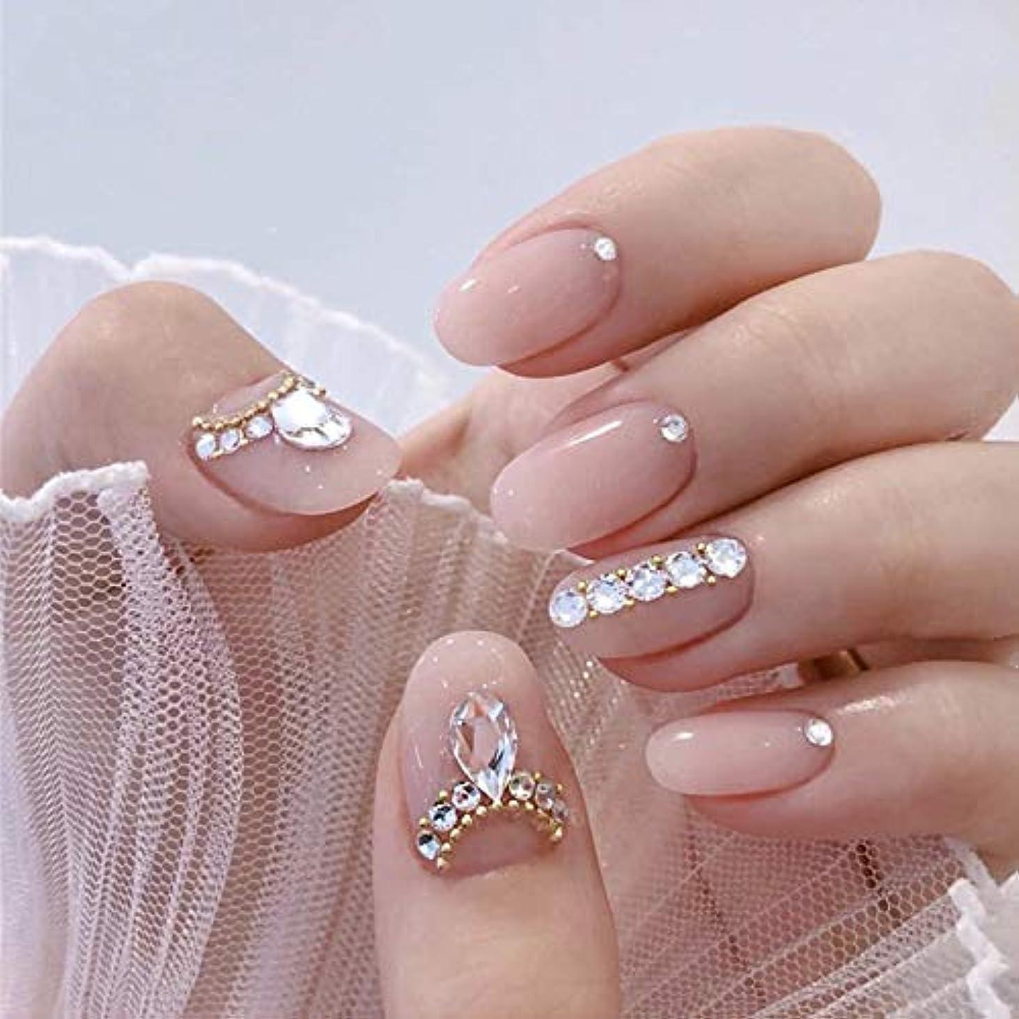 お客様ラッドヤードキップリング交じる优雅 で気质の高い淑女 水滴の形 24PCS ネイルチップ つけ爪