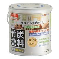 アトムハウスペイント 水性竹炭塗料 0.7L 炭調黄ジュラク