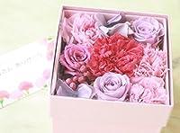 プリザーブドフラワー BOX Flower Pink