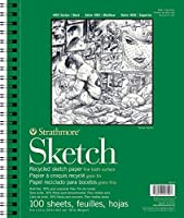 """Strathmore Premium Recycled Sketch Book 9""""X12""""-100 Sheets (並行輸入品)"""