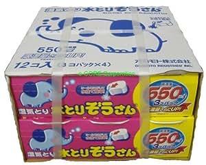 オカモト 水とりぞうさん 550mlx12個セット(3個パックx4)