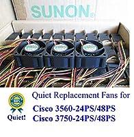 Sunon 交換用ファン 静音バージョン 3個 Cisco C3560-24PS/48PS C3750-24PS/48PS用