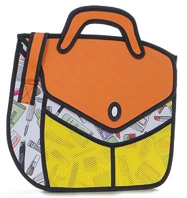 絵のようなバッグ イラストのようなかばん (L)