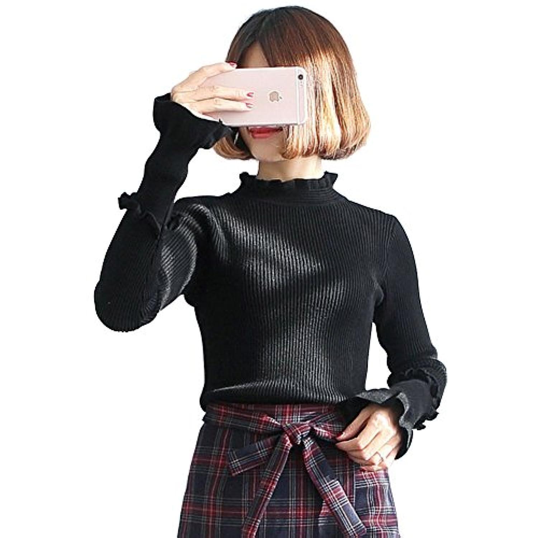 UNOPRO セーター レディース タートルネック プルオーバー きれいめ 秋 冬 通勤 通学 シンプル