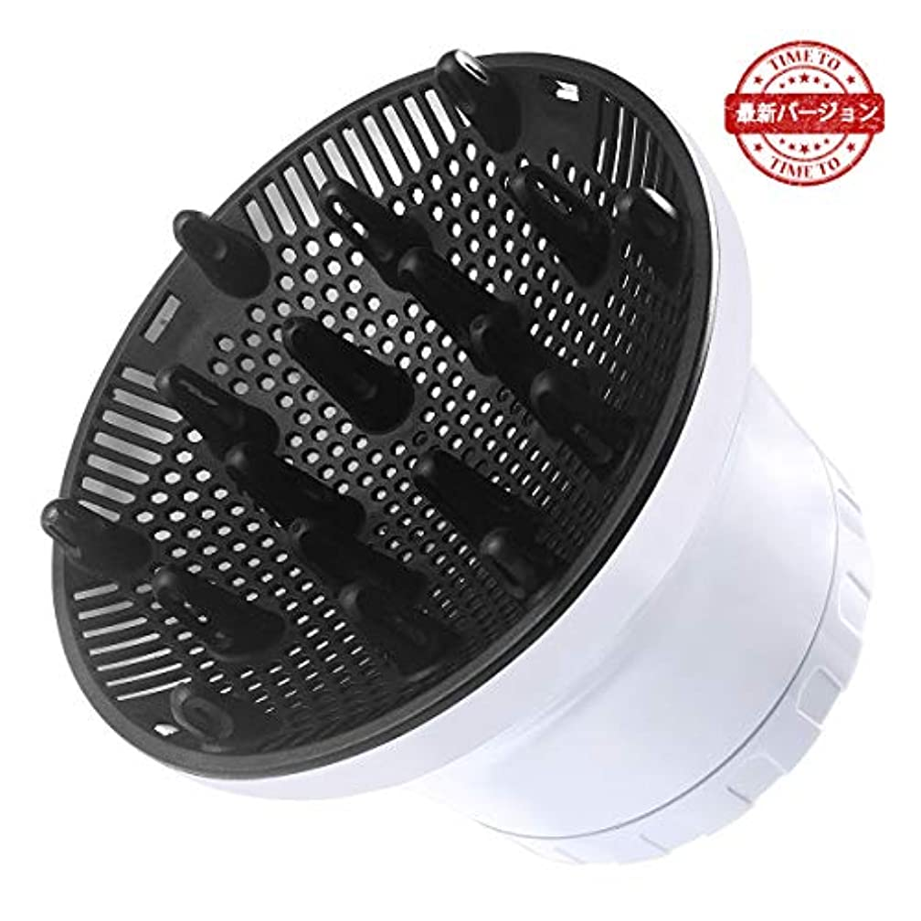 ボールウェイトレスレンドヘアドライヤーディフューザー Kaarll 通用ヘアドライヤーカバー 調整可能 40-70mm口径対応 スタイリング カール髪用 耐高温 熱風拡散器 ヘアケア カールドライヤー