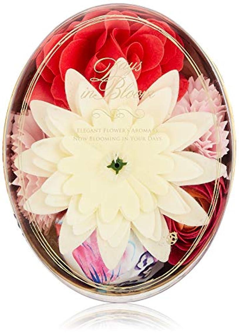 サスペンド予防接種するマニアックデイズインブルーム バスセットオーバル ローズ (入浴料 お花の形のバスギフト)