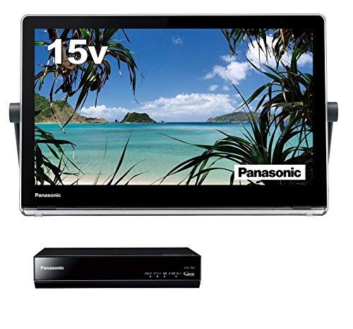 パナソニック 15V型 ポータブル 液晶テレビ プライベート・ビエラ 防水タイプ 500GB HDDレコーダー付 ブラック UN-15T8-K