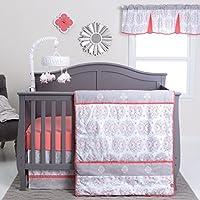 Trend Lab Valencia 3 Piece Crib Bedding Set, Coral [並行輸入品]