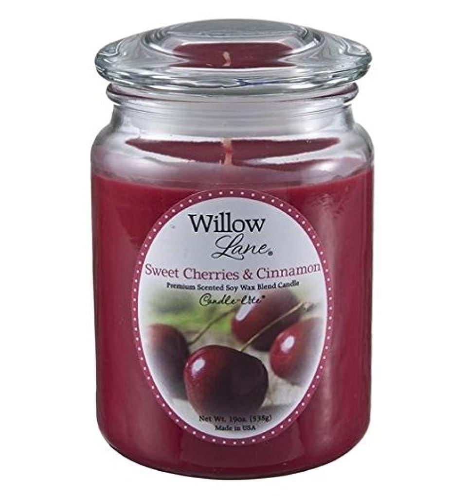 自宅で一般的に言えば甘やかすCandle Lite 1646991 Scented Candle、Sweet Cherries &シナモン、19-oz。 2 1646991