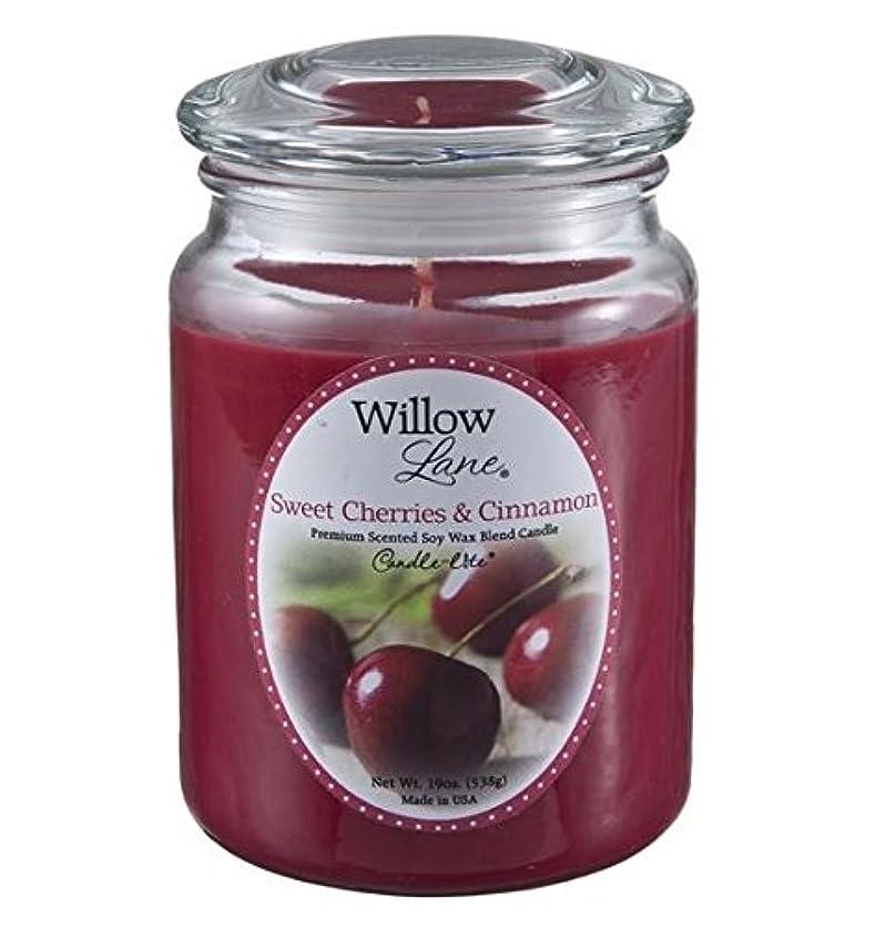 フェザーシマウマフィヨルドCandle Lite 1646991 Scented Candle、Sweet Cherries &シナモン、19-oz。 2 1646991