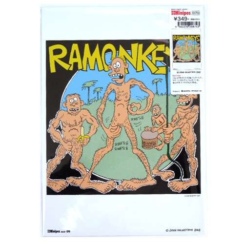 【Minipos】PUNK/John Holmstrom《RAMONKEYS/070》ミニポスターインテリアアート通販