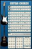 ポスター ギターコード表+アルミフレーム(ブラック) セット PP-31228B