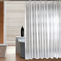 純粋なシャワー ・ カーテン, シャワー カーテン生地 バスカーテン 防水 肥厚 間仕切りカーテン 家のためのシャワー ・ カーテン-白 W220xH200cm(87x79inch)