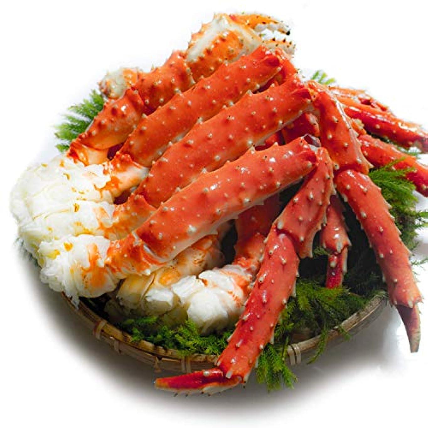 最も遠い背景脇にたらば蟹 足 天然 ボイル タラバガニ 良品選別済 ギフトパック 特大 蟹 かに (800g:800g1肩)