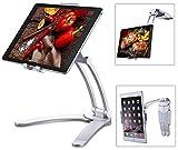Tendak タブレットスタンド スマホスタンド iPad スタンド 卓上 角度調整可能 360度回転 折りたたみ式 7~12インチ対応 (iPad Pro, Surface Pro, Nintendo Switch, iPad Mini) 軽量 持ち運びやすく テーブル ホーム オフィスなどに最適(シルバー)