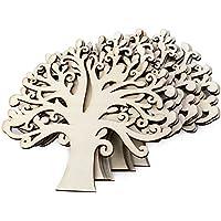 Doitsa クリスマスツリー 中空 木材チップ クリスマスツリー ハンギング オーナメント 装飾 DIY ぶら下げ 小物 飾りつけ カード 工芸品 パーティー 結婚式 10個セット