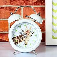 Younger brother 北欧の新鮮な牧歌的なクリエイティブのシンプルなキリン時計ミュートデコレーションギフト研究ベッドルームリビングルームキッズルーム5 * 8 * 12.5