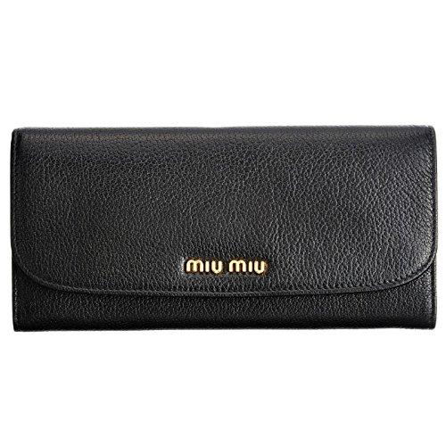 MIUMIU(ミュウミュウ) カーフスキン 二つ折り長財布 5MH109 034 002 [並行輸入品]