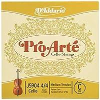 D'Addario ダダリオ チェロ弦 J5904 4/4M ProArte Cello Strings/C-tungsten Silver 【国内正規品】