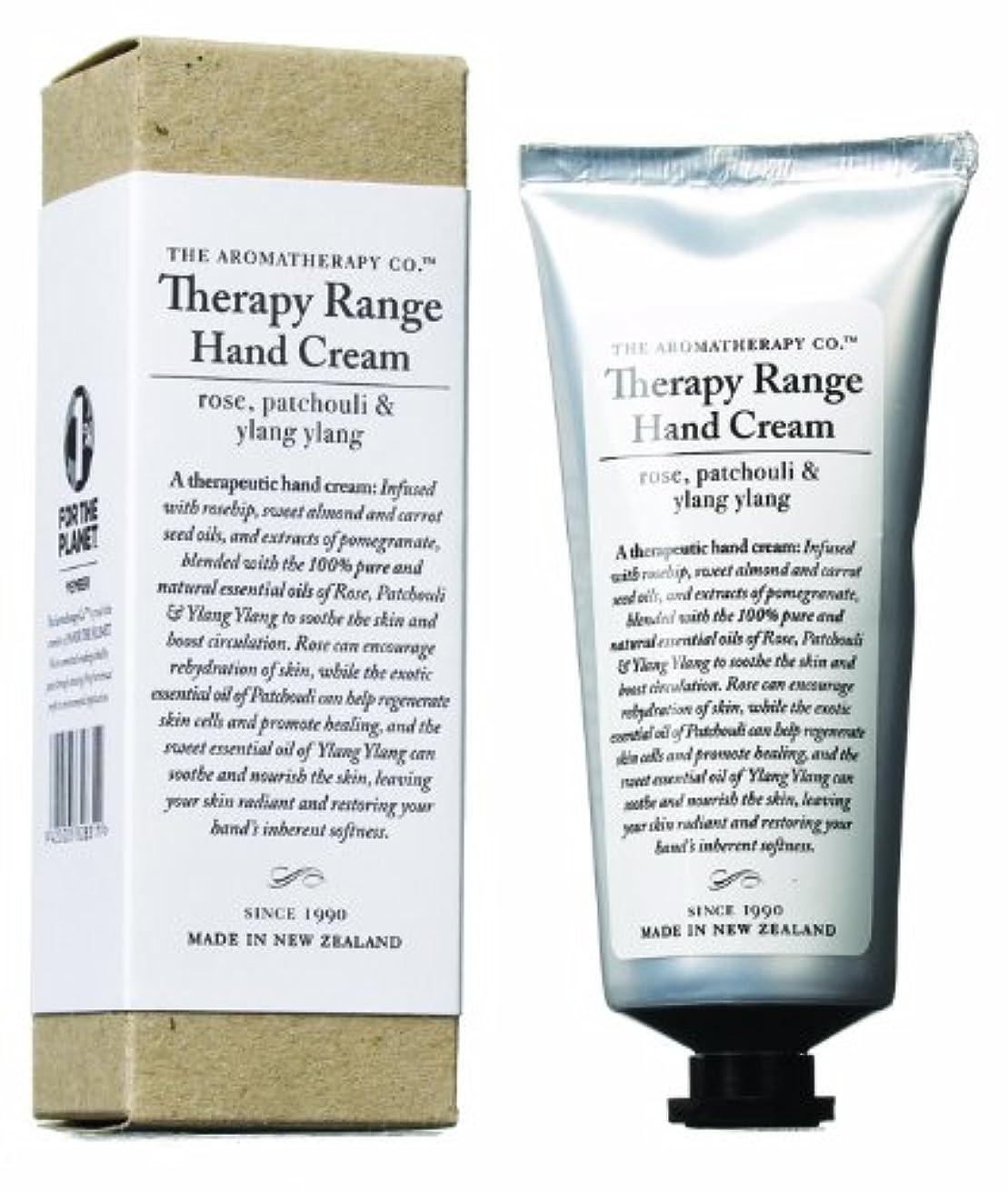苗取り消す計り知れないアロマセラピーカンパニー Therapy Range セラピーレンジ ナリシングハンドクリーム ローズ 、パチュリ&イランイラン